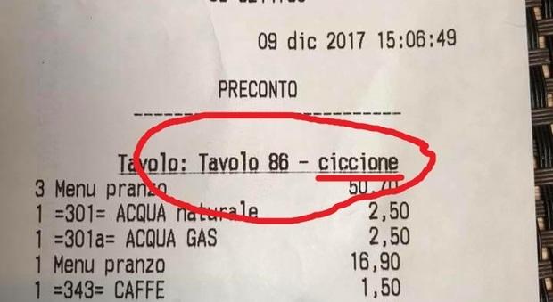 Roma, pranzano al ristorante giapponese: sullo scontrino c'è scritto